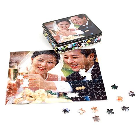 custom photo puzzle personalized photo puzzle with gift tin walmart com