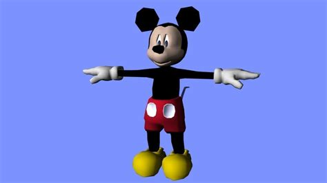 3d Mickey Mouse mickey mouse 3d model rigged obj cgtrader