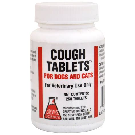 cough tabs for dogs cough tablets 250 tabs