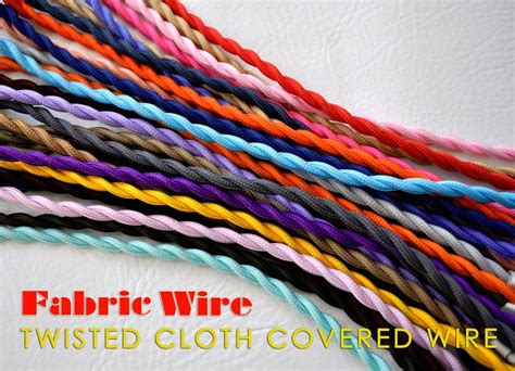 cloth covered l wire cloth covered wire 10 ft twisted l cord vintage