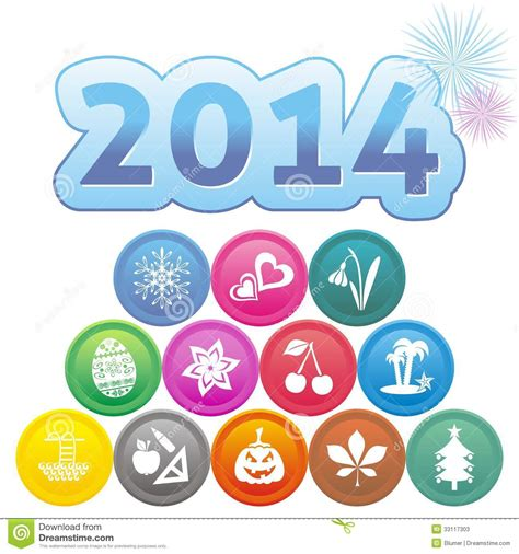 new year month symbols new year card stock photos image 33117303