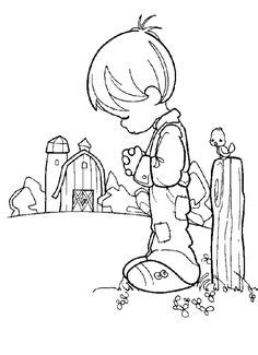 Coloring Pages Precious Moments On Pinterest Precious Precious Moments Cowboy Coloring Pages