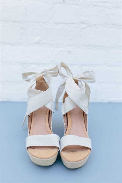 25 best ideas about white wedges on white