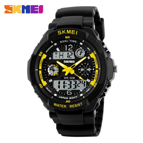 Jam Tangan Sport Pria Digitec Time Water Resist Original 4 skmei jam tangan analog digital pria ad0931 black yellow jakartanotebook