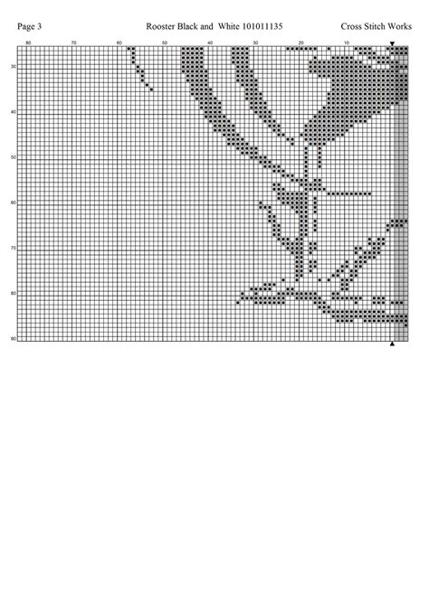 fm pattern works cross stitch works rooster black and white 101011135 free