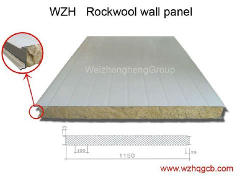 25 Square Meter by Composite Insulation Amp Fire Resistant Rockwool Wall Panel