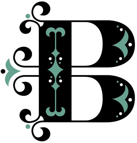 letter b typography alphabet 1 b daily drop cap