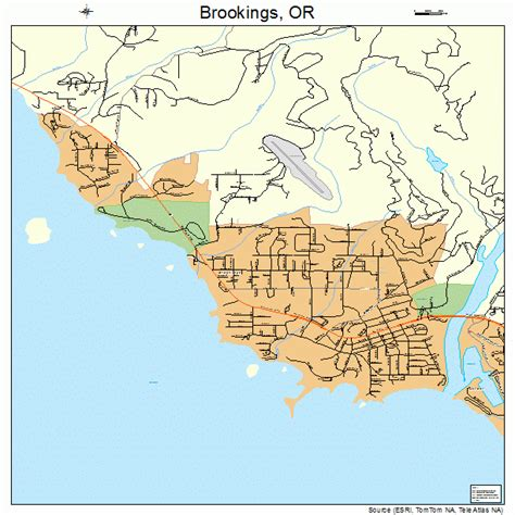 brookings oregon map brookings oregon map 4108650
