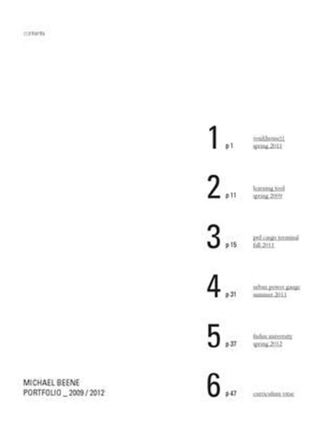 portfolio content layout best 25 table of contents ideas on pinterest table of