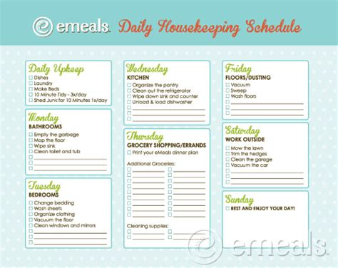 House Floor Schedule by Daily Housekeeping Schedule As I Begin Again As A