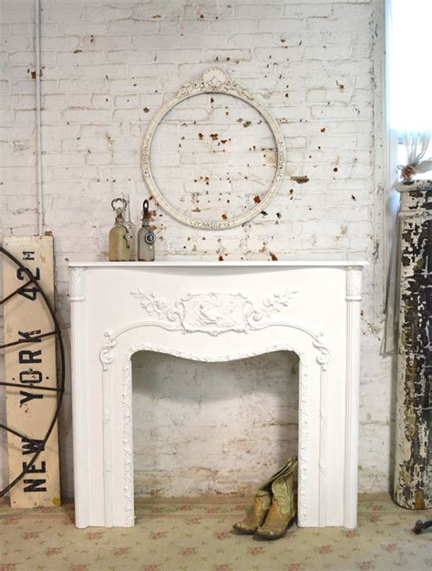 Shabby Chic Fireplace by Painted Cottage Chic Shabby Fireplace Mantel Pcfp 495