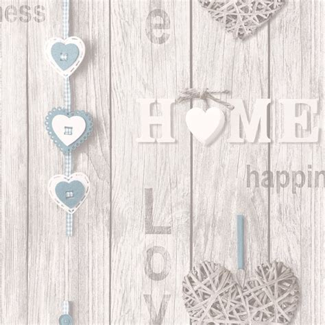 Shabby Chic 836 by Your Home Wallpaper Blue Decor Fd41719