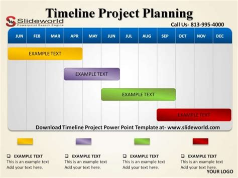 Timeline Project Powerpoint Template Project Timeline Powerpoint Template