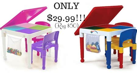 Tot Tutors 2 In 1 Construction Table 2 Chair Set Only