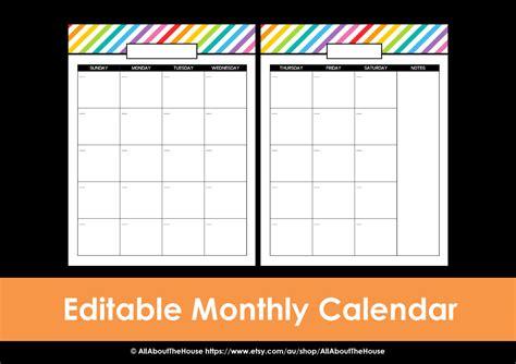 printable calendar page monthly calendar printable rainbow