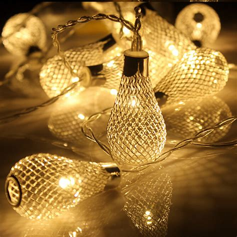 Led String Lights For Patio 20led Battery Operation Led String Led Metal Drip String Lights Patio Wedding