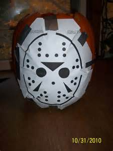 o lantern mask template jason voorhees pumpkin pattern carving holidays