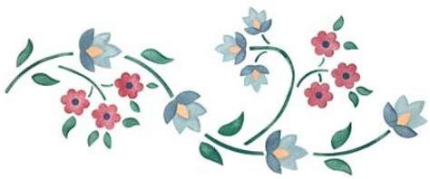 cenefa flores cenefas flores para pintar imagui