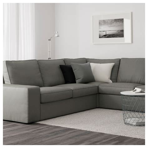 corner sofa ikea kivik corner sofa 2 2 with chaise longue borred grey green