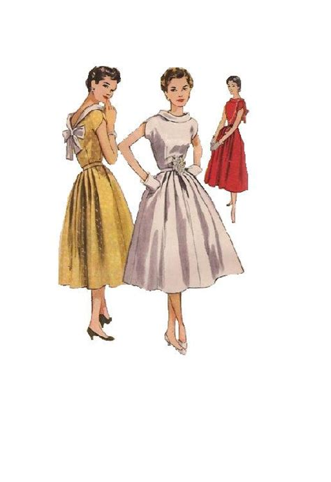 swing dress sewing pattern 1950s simplicity sewing pattern rockabilly swing dress
