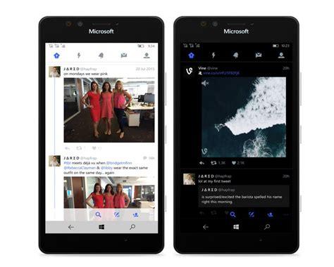best theme for windows 10 mobile twitter s new windows 10 mobile app retains dark theme