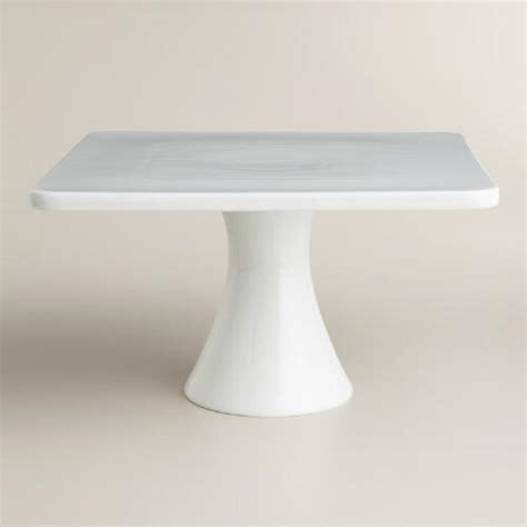 Cake Stand Simple White Large white square cake stand world market