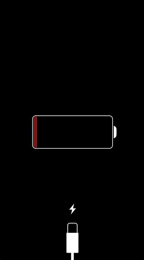 apple wallpaper not showing up what to do if you see a red iphone battery icon