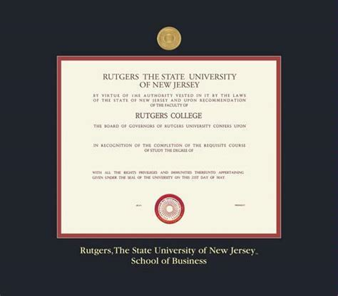 Rutgers Mba Diploma Frame by Custom Diploma Frames Certificate Frames Framing