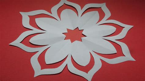 Paper Crafts Designs - how to make simple easy paper cutting flower designs