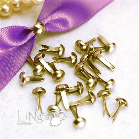 Paper Fastener Crafts - 100 gold metal brad paper fastener craft scrapbooking ebay
