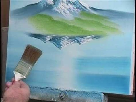 acrylic paint do you need water how to paint water with mountains 7 of 19