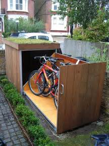 How To Build Wood Garage Storage Cabinets by Upgrading Bike Storage Possibilities Modern Outdoor Bike Garage Freshome Com