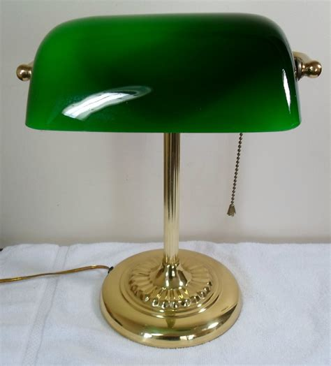 vintage desk l with green glass shade green shade desk l 28 images shelburne bankers desk l