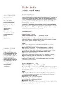 Registered Nurse Resumes Mental Health Nurse Cv Hashdoc