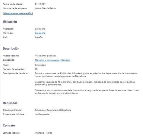 Plantillas Curriculum Experiencia Ni Estudios Caso Securitas Direct Febrero 2012 Recursos Inhumanos
