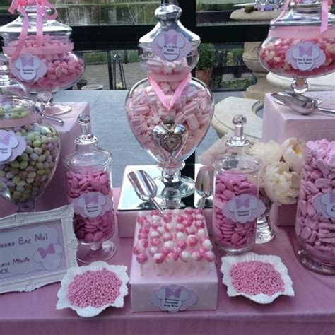 theme buffet names minnie mouse themed candy buffet and dessert table from