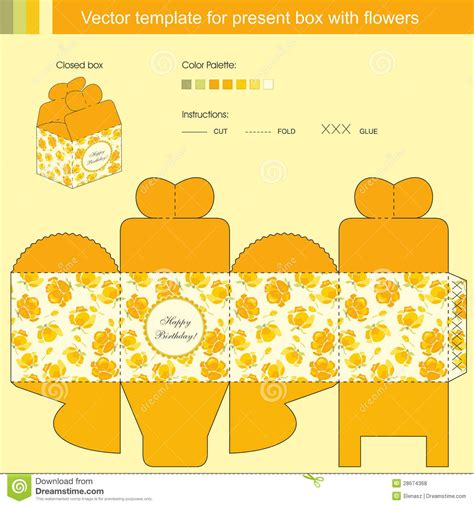 Vector Template For Present Box Royalty Free Stock Photos Image 28674368 Present Template