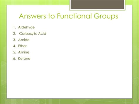 the key functional groups in organic chemistry master organic