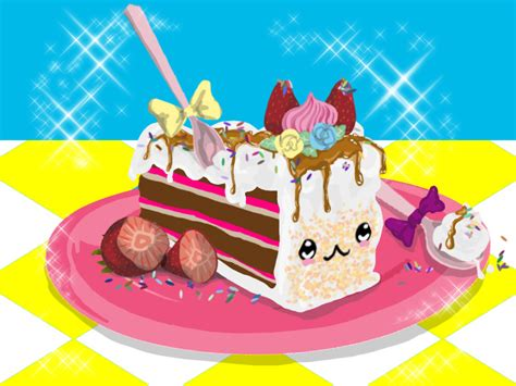 Kawaii Cake By Pequennyo On Deviantart   Cakes Design