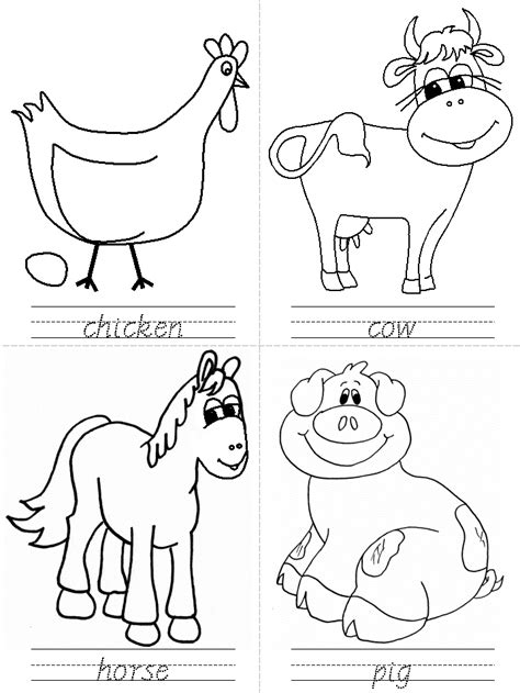 printable farm animal images free coloring pages of preschool farm animals