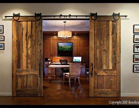 Barn Door Office Rustic Home Office