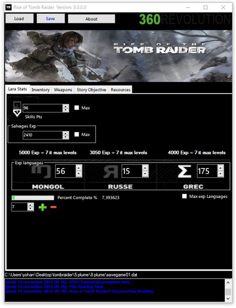 mod game saves xbox 360 team xpg 360revolution rise of tomb raider save editor
