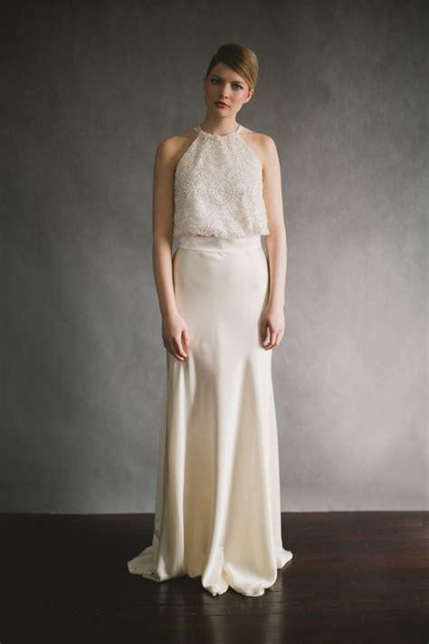 simple halter chiffon wedding dress  older brides