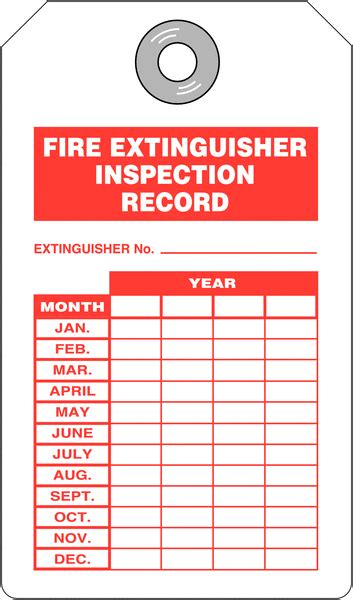 Fire Extinguisher Inspection Record Tags Seton Uk Free Extinguisher Inspection Tags Template