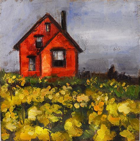 painting of house art du jour by martha lever a weeks worth of paintings