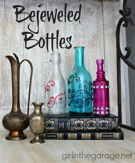 bottel oorgetrek met net pinterest bejeweled bottles and hometalk craft in the garage 174