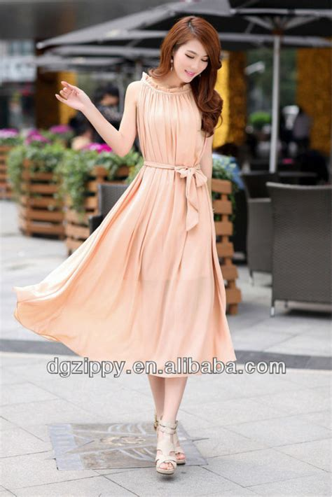 Dress Korea Pink By Griyaaglie korean fashion chiffon maxi dress clothing