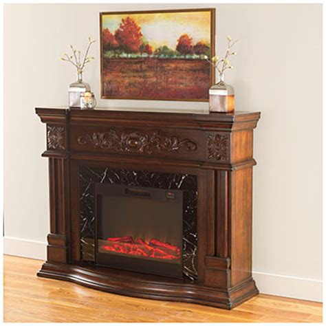 big lots furniture fireplace view 62 quot grand cherry scroll electric fireplace deals at