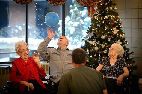 christmas nursing home this nursing home calms troubling behavior without risky drugs health news npr