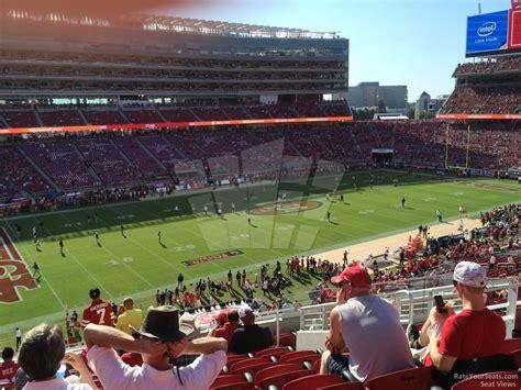 sec section mid level corner levi s stadium football seating
